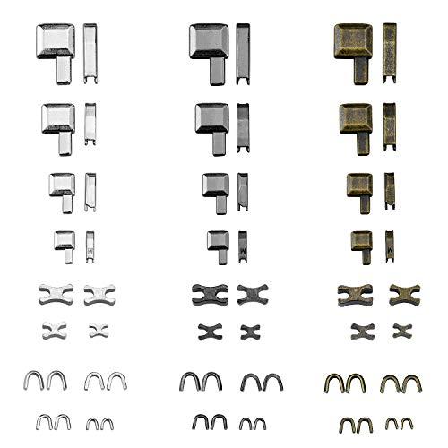 Zaleonline Zinklegierungs-Reißverschluss Oben auf Reißverschluss Stopper unter Set #3#5#8#10 Metall Slider Zipper Pull Ersatz Reißverschluss Schieber Halterung für Reißverschluss Reparatur