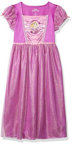 Disney Princess Disney - Vestido de fantasía para niña, Rapunzel Chic, 4