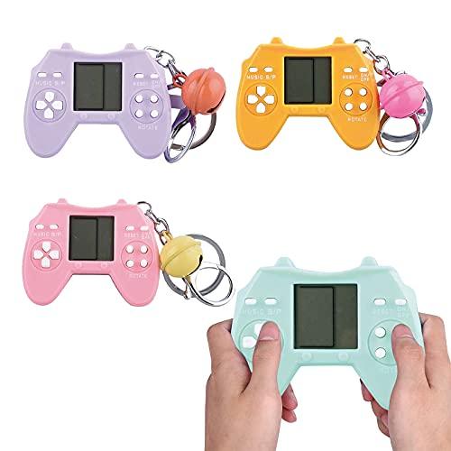 NMSLCNM Spielkonsole klassisches Puzzle, Handheld Spielkonsole, Bildschirm-Konsole, Klassische Tetris-Spielekonsole, Mini Portable Spielkonsole Game Console Schlüsselanhänger 6x4.5cm (D)