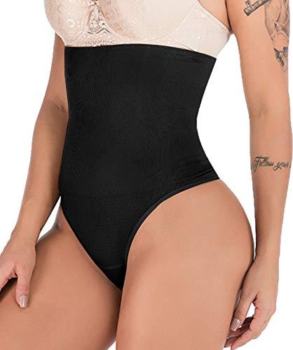 Hioffer 328 Women Waist Cincher Girdle Tummy Slimmer Sexy Thong Panty Shapewear Black