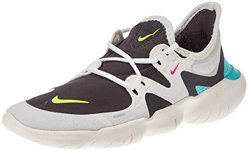 Nike Women's WMNS Free Rn 5.0 Track & Field Shoes, Multicolour (Sail/Volt/Thunder Grey/Aurora Green 000), 6 5.5 UK