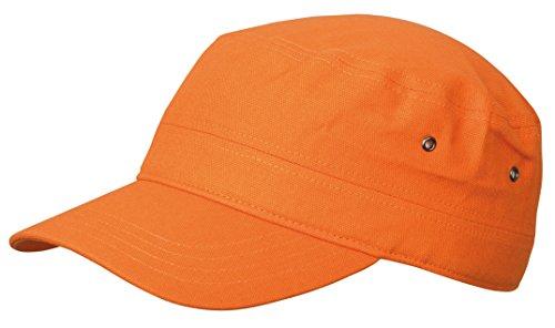 2Store24 Cap im Military Stil aus robustem Baumwoll Canvas - Military Cap in orange