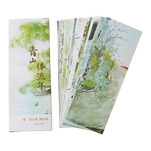 Wusuowei 30pcs Creative Chinese Style Lesezeichen Papier, Recycelte, Umweltfreundliche Lesezeichen Für Schüler Zum Lesen