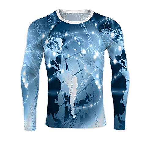 AB Best Internet Concept of Colorful Business from Concepts Series,Men's Long-Sleeve Compression Shirt Base-Layer Running Top S