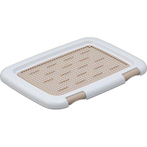 アイリスオーヤマ フチもれしにくいトレーニングペットトレー ホワイト レギュラーサイズ用 ワンサイズ (x 1)