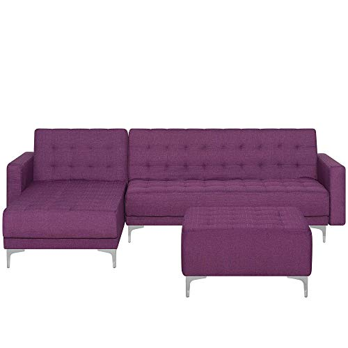 Canapé d'angle Tissu Confort Violet