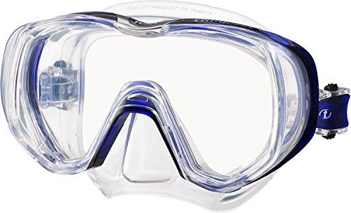 Tusa Freedom Tri-Quest - silikon erwachsene tauchmaske schnorchelmaske profi (M-3001) - Cobalt Blau