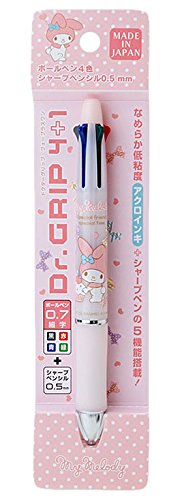 [My Melody] 4 color ballpoint pen + sharp pens doctor grip 4 plus 1 Dr.Grip pink.