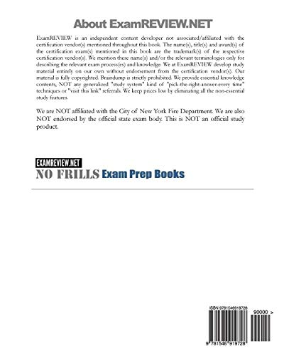 City of New York Full Service Shop (W-96) and Sales (S-96) of Portable Fire Extinguishers Exam: 60+ Self Practice Review Questions 2017 Edition