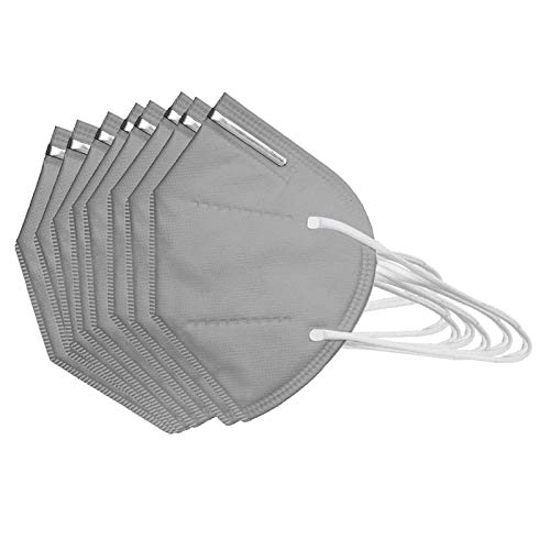 50Pcs Disposаble_N95_Face Mẵsk FDẴ Certified Coronàvịrụs Protectịon Adult's,Efficiency≥95% - 180 ° and Air Permeability - 5-Ply High Filtration Fàce Màsk _ KF94 Grey