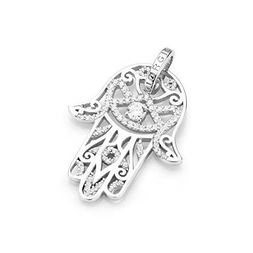 Giorgio Martello Milano Damen-Münzfassung 925 Silber rhodiniert Zirkonia weiß - 195081693