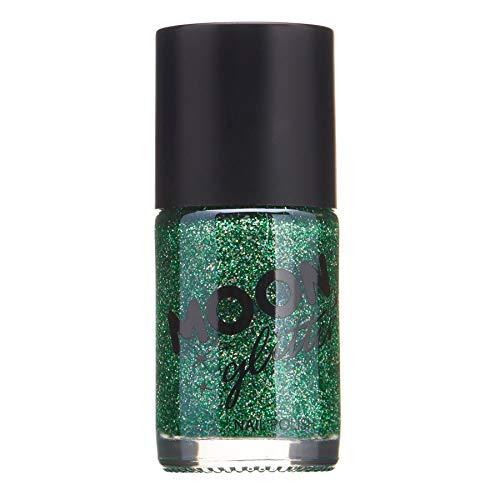 Holographischer Glitzer Nagellack von Moon Glitter - 14ml - Grün