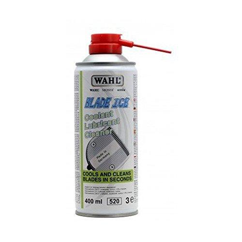 """Original Blade Ice Spray 400ml (Moser/Wahl) \""""4 in 1\"""". Kühlt, reinigt + ölt den Schneidsatz. Ideal für Tierschermaschine / Hundeschermaschine"""
