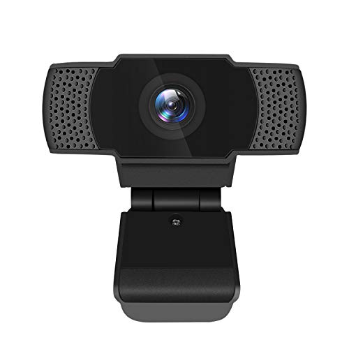 Lanbowo Webcam with Microphone, Ultra HD 1080P USB Webcam, Widescreen HD Video Calling, Wide-angle Webcam for PC Laptops Desktops, Gaming Computer Camera for Live Streaming, Gaming & Conferencing