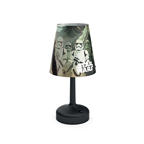 Philips Tischlampe 7179630P0 - Nachtlicht für Babys, freistehend, Schwarz, mehrfarbig, Kunststoff, Tisch, Star Wars