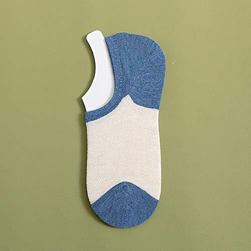 Alvnd 3 paar ultravlakke onzichtbare sokken met platte mond, antislip dunne siliconen sokken, nonchalante dunne bootsokken, onzichtbare sokken