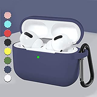 AMERTEER Airpods Pro Case, AirPods Pro Accessories Shockproof Case Cover Portable & Protective Silicone Skin Cover Case fo...
