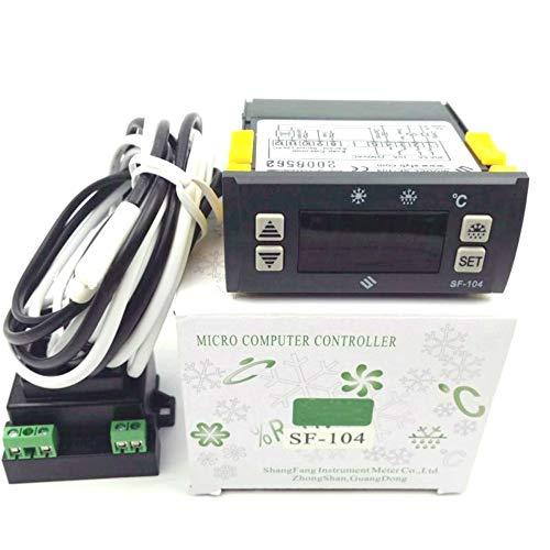Thermostat Temperature Controller SF-104 Digital Display Temperature Regulator 110V an Evaporator Fan Controller Defrost Heating Wire Controller