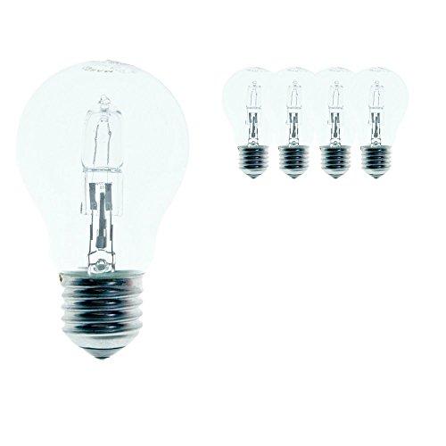 Osram 64543 Classic A ECO - Confezione da 5 lampadine a risparmio energetico goccia, 46 W, trasparenti, attacco E27