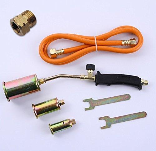 3tlg. Gasbrenner Abflammgerät Brenner Löten Gaslötgerät Dachbrenner + Adapter …