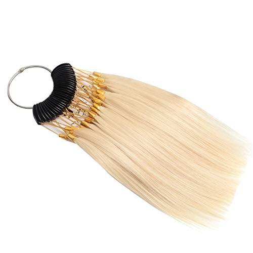 RemeeHi Lot de 30 mèches de cheveux pour tester la couleur des cheveux avec boucles dorées - Beige 10°