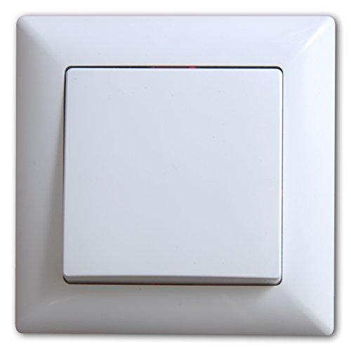 Visage Schalter Ein- / Ausschalter Unterputz Weiss, Rahmen + Einsatz, Praktisches Steckklemmen-System - Kabelanschluss ohne Schrauben