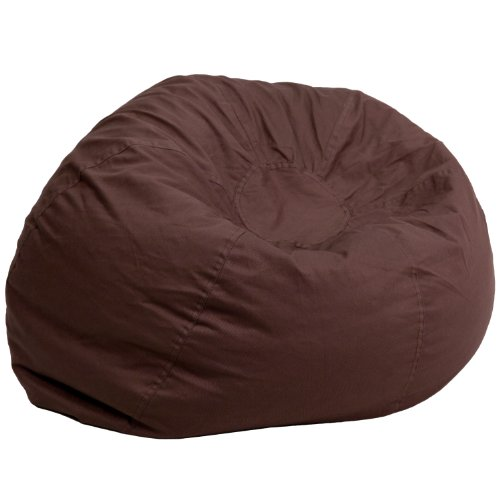 Flash Furniture Oversized Solid Brown Bean Bag Chair