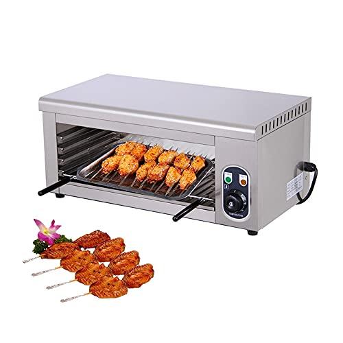 Horno de pizza eléctrico comercial, horno tostador profesional de una sola capa, horno eléctrico de acero inoxidable de 2 KW,Temperatura 0-300℃, para pasteles, pan, pizza, refrigerios, barbacoa