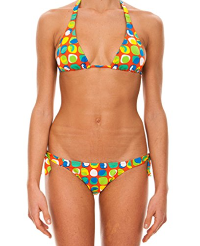ARENA Postcard High Triangle Bikini für Damen Mehrfarbig Mango 38