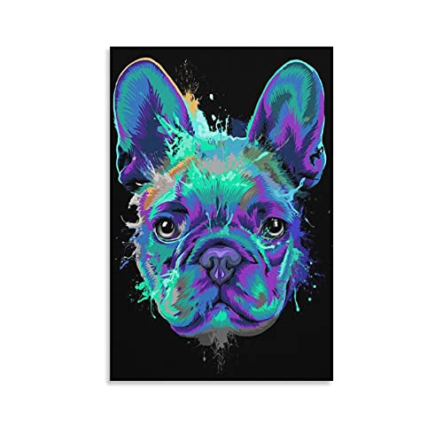 beicheng French Bulldog Splashwall Art,Canvas Wall Art,Paintings,Cool Posters,Anime Wall Art Canvas Art Poster and Wall Art Picture Print Modern Family Bedroom Posters16×24inch(40×60cm)