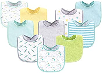 Luvable Friends Unisex Baby Cotton Terry Bibs