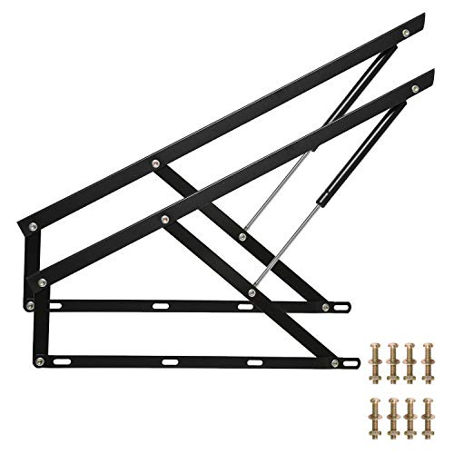 Homend Pair of 3 FT Pneumatic Storage Bed Lift Mechanism Heavy Duty Gas Spring Bed Storage Lift Kit for Box Bed Sofa Storage Space Saving DIY Project Lifter Lift Up Hardware (35'(0.9M))
