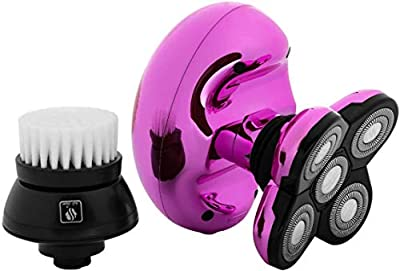 Butterfly Kiss Womens Electric Wet and Dry Shaver for Head and Body - Ladies Electric Razor for Arms, Legs and Bikini (USB Charging Cable) (Pink) by Skull Shaver