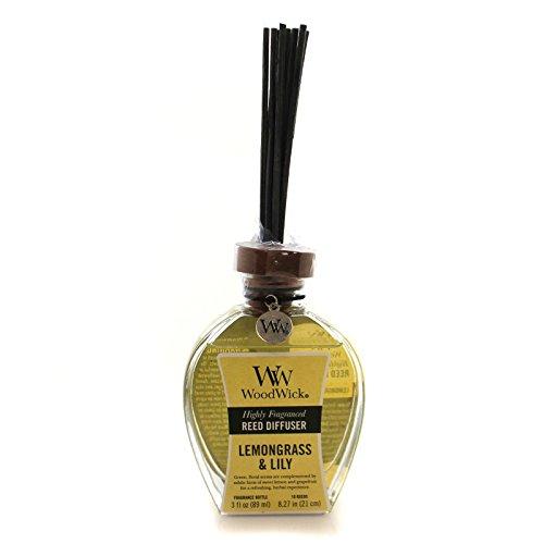 De hojas de hierba limón y lirio de nuevo altamente diseño de la película difusor de secador de pelo WoodWick con fragancia de diseño de la película difusor de secador de pelo 3 oz