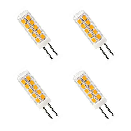 2W G4 LED Warmweiss 3000K Ersetzt 30W Halogenlampe AC 12V Nicht Dimmbar G4 LED Birnen Glühbirne Für die Beleuchtung zu Hause, 4er Pack[MEHRWEG]