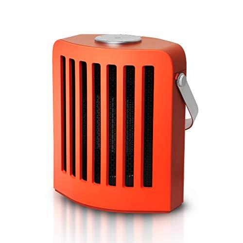 Calefactor PTC Calefacción de Cerámica 500W/1000W Calefactor de Aire Caliente Silencioso Ventilador Calefactor con Ahorro de Energía con Protección contra Sobrecalentamiento para Hogar y Oficina