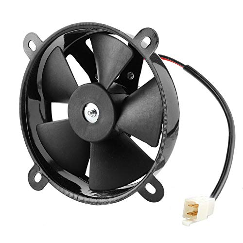 Qqmora Radiador eléctrico Ventilador de refrigeración Hierro Práctico 12V Durable para Trial...