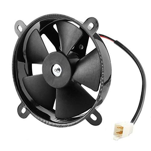 Qqmora Radiador eléctrico Ventilador de refrigeración Hierro Práctico 12V Durable para Trial Dirt Bike