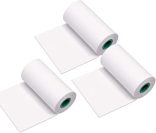 Aibecy Peripage Papier Thermique pour Mini Imprimante Rouleau de Papier Thermique durable de 56 * 30mm sans BPA Polic...