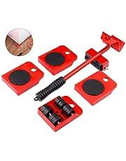 GEMITTO Meubelroller, 5-delig, meubelroller, meubelglijsysteem, draagkracht per 150 kg, anti-slip coating, voor moeiteloos verplaatsen van meubels, verhuishulp