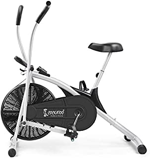 Cockatoo AB06 Stainless Steel Exercise Bike with Moving Handle and Adjustable Cushioned Seat, Black/Silver (DIY, Do It You...