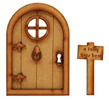 Fairy Castle Fairy Door. Three-Dimensional Self-Assembly Wooden Fairy Door Craft Kit with Door Knocker, Handle and Fairy Sign