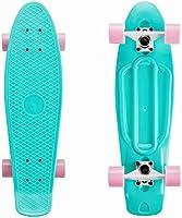 SKATEBOLT Alouette 68,6 cm Mini Penny Skateboard Cruiser Tavola Completa per Bambini Ragazze e Ragazzi per Principianti...
