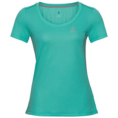 Odlo T-Shirt S/S Crew Neck F-Dry pour Femme XXL Bleu Canard