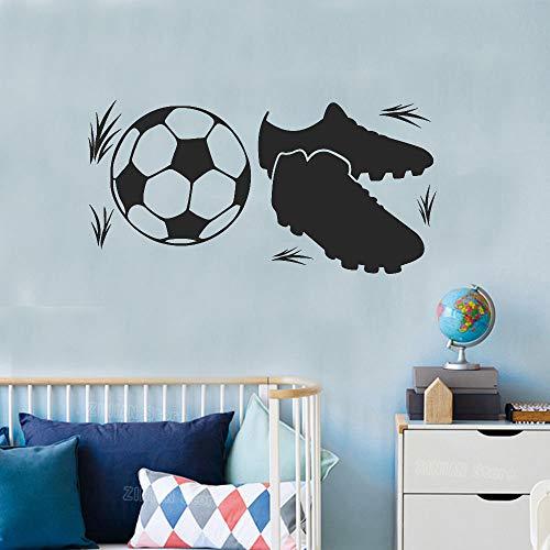 GJQFJBS kinder fußballschuhe wandtattoo jugend fußball zimmer vinyl wandtattoos spielzimmer dekoration sport tapete A3 112X56 cm