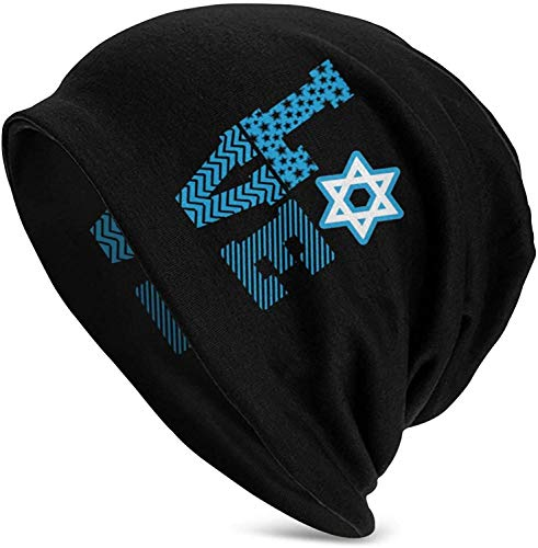 Twifon Hanukkah Love The Star of David Mens Winter Beanie Warm Skull Hats Custom Hat Soft