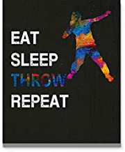 Eat Sleep Throw Repeat Wall Art, 11x14 inch Sport Print, Great Gift Idea for Male Shot Put Throwers, Decalthletes, Track and Field Coach and Shot Putting Fans