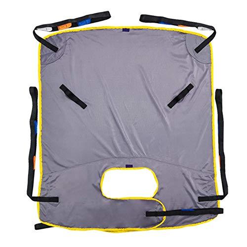 Z-SEAT Toiletten-Sling-Patientenlift, Ganzkörper-Patientenlift-Sling, Mesh-Badekommode-Patientenlift Geteilter Beinriemen für den Transfer vom Bett zum Rollstuhl, zur Liege