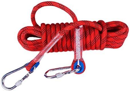 Rope Cuerda de Escalada estática al Aire Libre con 2 Ganchos ...