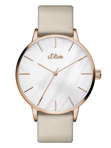 s.Oliver Damen Analog Quarz Armbanduhr mit PU Armband SO-3548-LQ